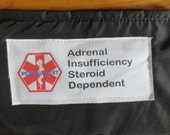 Insulated Addison's disease adrenal insufficiency weather proof zippered pouch case with options toss in your pack or purse