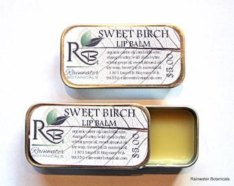 Sweet Birch Lip Balm vegan .25oz slide top tin