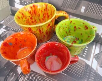 Bubblegum Shades Teacup Porcelain Measuring Cup Set