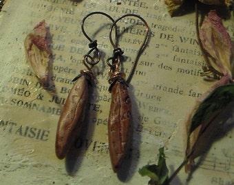 Primitive Rustic Pod earrings