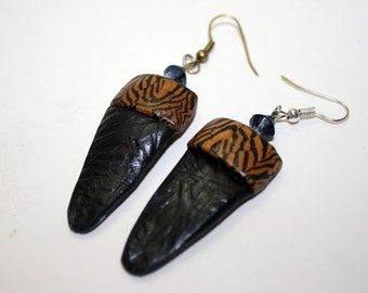 Zebra Patterned Earrings
