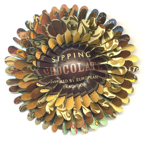 Sipping Chocolate Flower Brooch