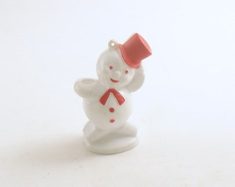 Vintage Christmas Ornament Snowman Christmas Decoration Candy Container