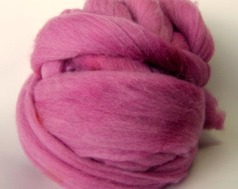Cerise Colonial Wool Top - 3 Ounces