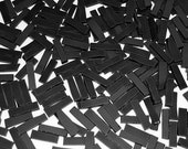 100 1/4 Inch Solid Black  Border Tumbled Stained Glass Mosaic Tiles