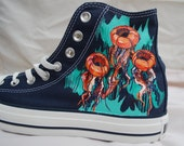 Hand Painted Converse Shoes - Jellyfish