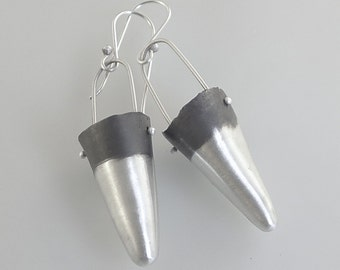 Oxidized Sterling Silver Cones - E2030