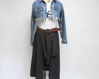CUSTOM Classic plaid Asymmetrical Skirt YOUR SIZE