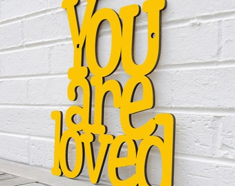 You Are Loved Sign, Love Wood Sign, Love Wood Plaque, Family Wood Plaque, Lovers Wood Sign, Romantic Wood Sign, Romantic Bedroom Sign