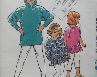 Kwik Sew Girls Tops Pattern 2095