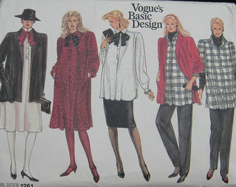 Vogue Maternity Wardrobe Pattern 1261