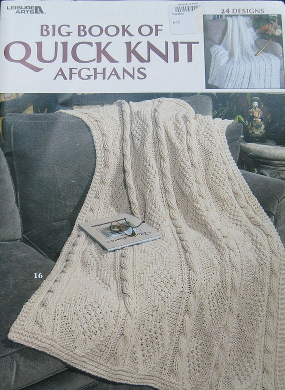 Big Book Of Quick Knit Afghans Pattern Book