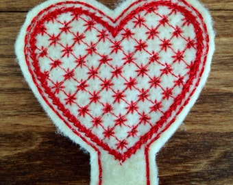 Heart Pencil Topper Vday lattice
