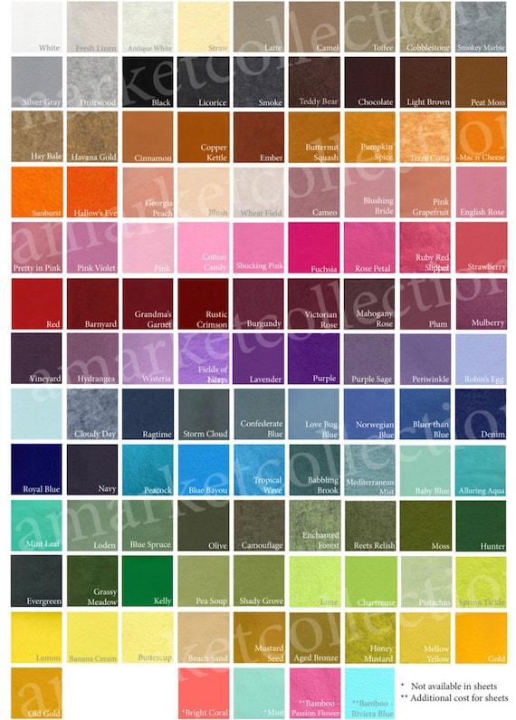 Lot of 24 1-3/4 Inch Wool Felt Circles-You PICK the colors