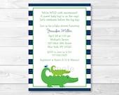 Cute Alligator Baby Showe...