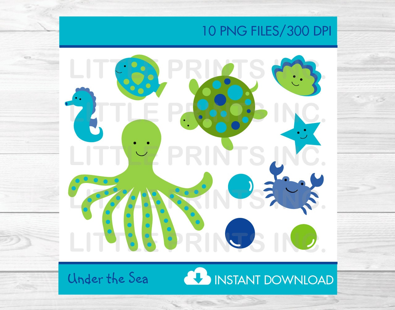 Cute Under The Sea Clipart / Under The Sea Baby Shower ...