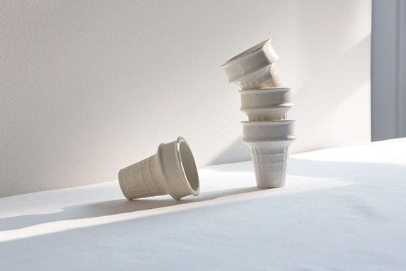SECONDS SALE: A set of porcelain sugar cones