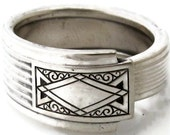 Art Deco Spoon Ring Size 3 to 15  Noblesse  Men 1930