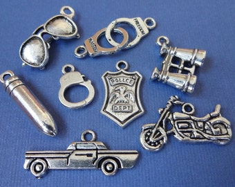 8 Police Department Theme Charms
