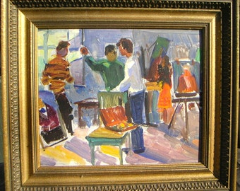 Vintage Art Studio oil painting