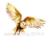 Watercolour OWL print, owl decor, owls, watercolour owl, bird lover gift, owl print,