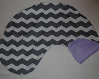 Gray Chevron and Lavender Minky Dot Pillow Cover Fits Dr Brown's Gia Pillow CHOICE OF MINKY