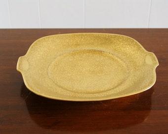 Vintage gold porcelain tray, Czechoslovakia
