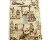 Light Switch Cover Wall Decor Light Switchplate Switch Plate in Toile  (178S)