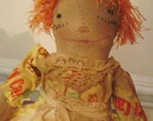 Primitive Raggedy Ann Rag Doll- Nutmeg Originals