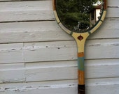 vintage tennis racket mirror- Wilson lite blue