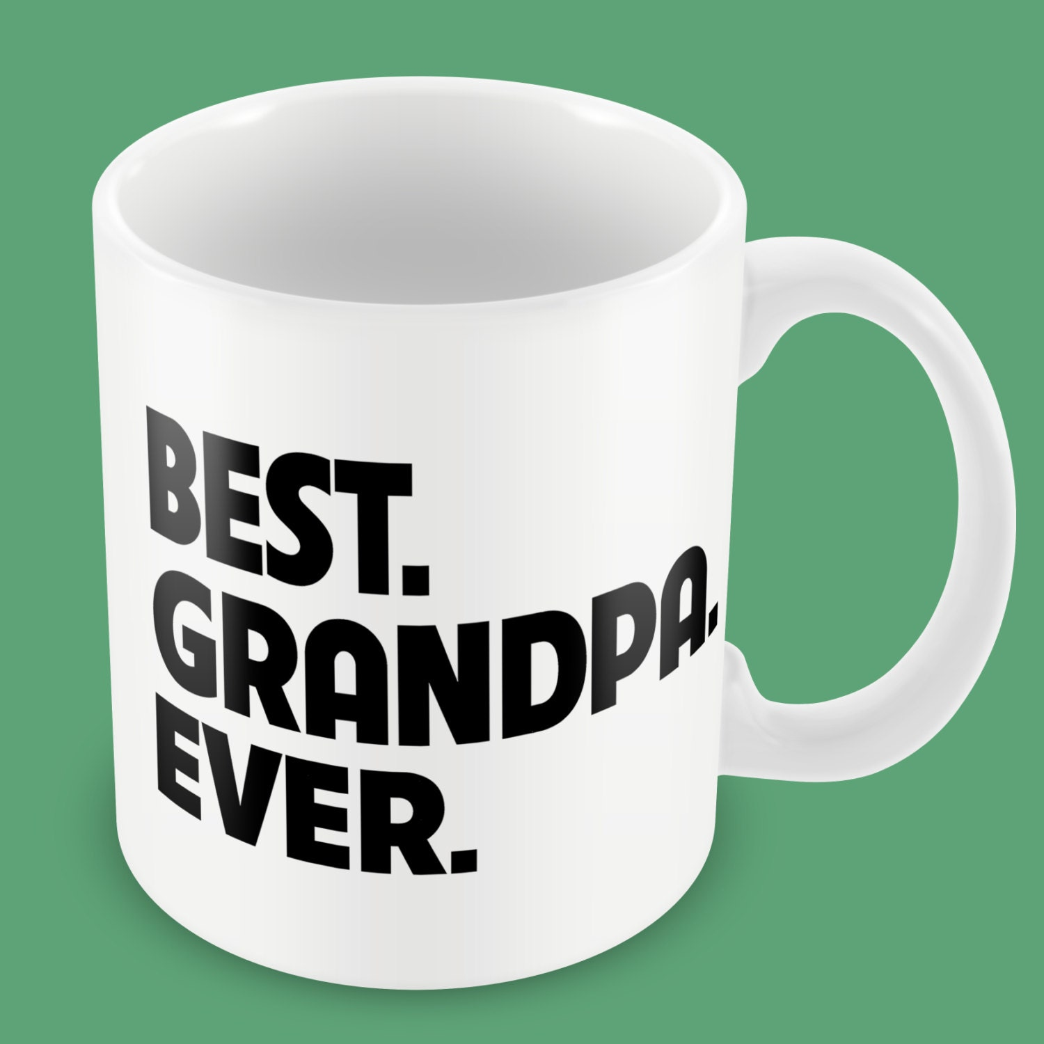 Fathers Day Gift Best Grandpa Ever Ceramic Coffee Mug