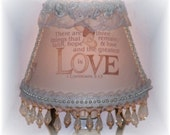 New Inspirational LOVE Scripture NIGHT LIGHT Beading Lace Lovely Rosebuds Leaves Pearls