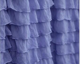 Periwinkle Curtain Valance - Ruffle Valance - Blue Valance - Periwinkle Valance - Purple Valance Curtains - Curtains Window Valances
