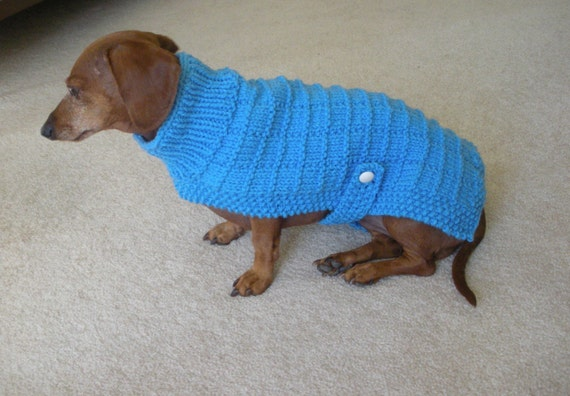 Knitted Dachshund Pattern : Sweater Pattern for Mini Daschaunds Doxie Dachshund by ...
