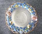 Antique Very Delicate Lace Basket - Von Schierholz Porcelain - Germany ca 1907 - Dainty Thin Weave
