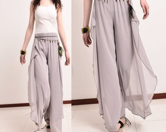 Beyond Time - pleated chiffon skirt pants (K5101)