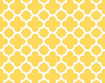 Quatrefoil in Yellow (C435-50)