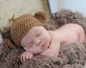 Hat for Baby, Hat for Newborns, Hat for Infants, Crochet Monkey Hat, Crochet Girl Hat, Crochet Boy Hat, Baby Beanie, Baby Halloween Hat