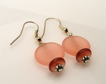 Seaglass dangle earrings
