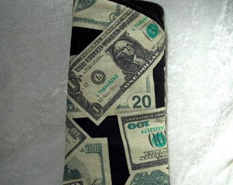 Money Money Money Handmade Eyeglass Case by Sylcraft