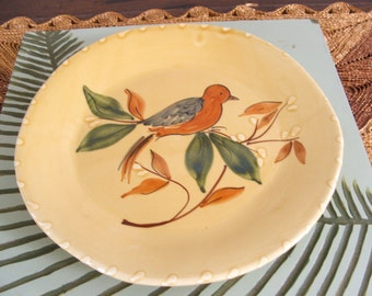Ceramiche Umbre Hand Panted Decorative Pottery Plate Made in Italy by Tirio Uzzi