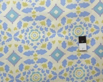 Dena Designs PWDF107 Taza Josephine Blue Cotton Fabric 1 Yard