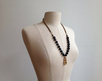 Deco Egyptian Necklace. Handmade of Vintage & Antique Parts.