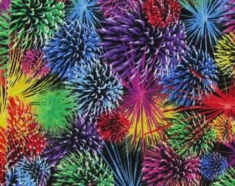 Fireworks Celebration July 4th Curtain Valance NEW