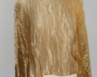Copper Metallic Silk Blouse
