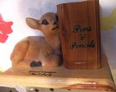 grand canyon deer pencil holder souvenir