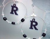 Custom Request High School Team Hoop Earrings