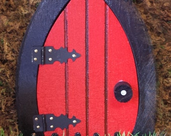 Red Fairy Door, 6.5 inch that OPENS.