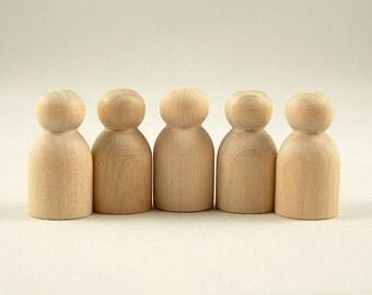 25 Wooden Peg Dolls - Babies - Unfinished Wooden Peg Dolls for DIY