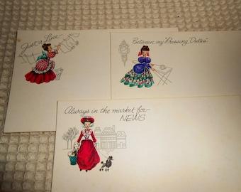 Vintage Current Postcards, Retro Postcards
